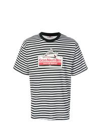 Camiseta con cuello circular de rayas horizontales en blanco y negro de Gcds