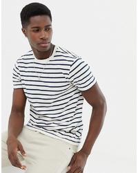 Camiseta con cuello circular de rayas horizontales en blanco y negro de J.Crew Mercantile