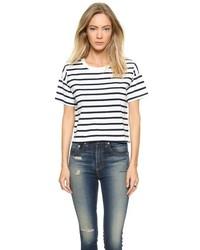 Camiseta con cuello circular de rayas horizontales en blanco y negro de Madewell