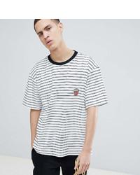 Camiseta con cuello circular de rayas horizontales en blanco y negro de Reclaimed Vintage