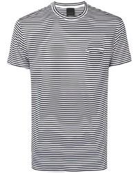 Camiseta con cuello circular de rayas horizontales en blanco y negro de Rrd