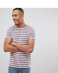 Camiseta con cuello circular de rayas horizontales en blanco y rojo y azul marino de ASOS DESIGN