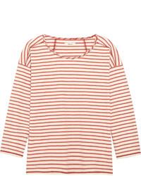 Camiseta con cuello circular de rayas horizontales en blanco y rojo de Madewell