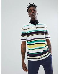 Camiseta con cuello circular de rayas horizontales en multicolor de ASOS DESIGN