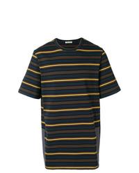 Camiseta con cuello circular de rayas horizontales en multicolor de Marni