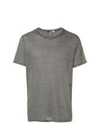 Camiseta con cuello circular de rayas horizontales en negro y blanco de Isabel Marant