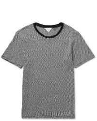 Camiseta con cuello circular de rayas horizontales en negro y blanco de Rag and Bone