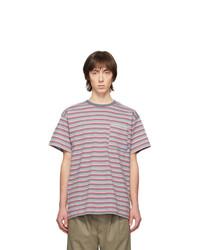 Camiseta con cuello circular de rayas horizontales gris de Rassvet