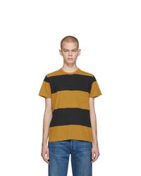 Camiseta con cuello circular de rayas horizontales mostaza de Levis Vintage Clothing