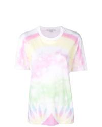 Camiseta con cuello circular efecto teñido anudado blanca de Stella McCartney