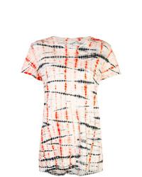 Camiseta con cuello circular efecto teñido anudado en multicolor de Proenza Schouler