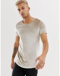 Camiseta con cuello circular en beige de ASOS DESIGN