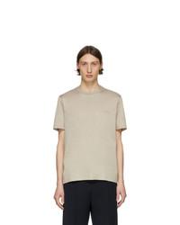 Camiseta con cuello circular en beige de Brioni