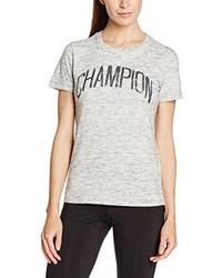 Camiseta con cuello circular en beige de Champion