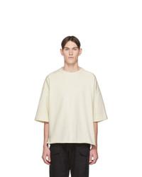 Camiseta con cuello circular en beige de Jil Sanderand