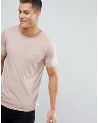 Camiseta con cuello circular en beige de Le Breve