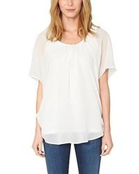Camiseta con cuello circular en beige de s.Oliver Premium