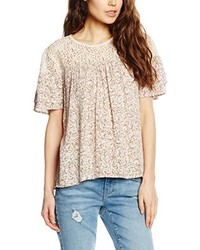 Camiseta con cuello circular en beige de Vero Moda