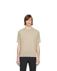 Camiseta con cuello circular en beige de Z Zegna