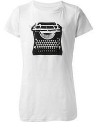 Camiseta con cuello circular en blanco y negro original 3141645