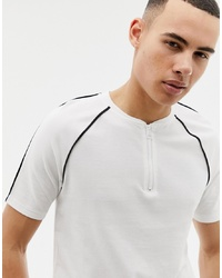 Camiseta con cuello circular en blanco y negro de ONLY & SONS