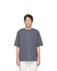 Camiseta con cuello circular en gris oscuro de Acne Studios