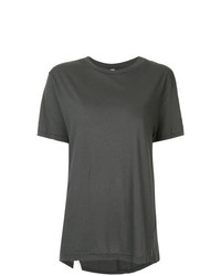 Camiseta con cuello circular en gris oscuro de Bassike
