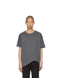 Camiseta con cuello circular en gris oscuro de Bottega Veneta