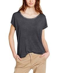 Camiseta con cuello circular en gris oscuro de DDP