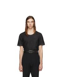 Camiseta con cuello circular en gris oscuro de Deepti