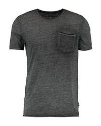 Camiseta con cuello circular en gris oscuro de Jack & Jones