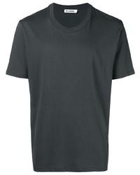 Camiseta con cuello circular en gris oscuro de Jil Sander