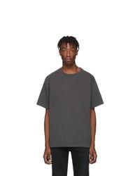 Camiseta con cuello circular en gris oscuro de John Elliott
