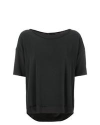 Camiseta con cuello circular en gris oscuro de Kristensen Du Nord