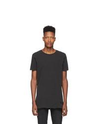 Camiseta con cuello circular en gris oscuro de Ksubi