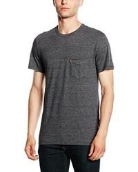 Camiseta con cuello circular en gris oscuro de Levi's