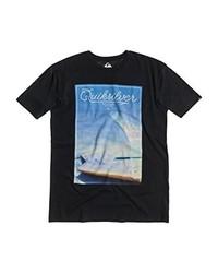 Camiseta con cuello circular en gris oscuro de Quiksilver
