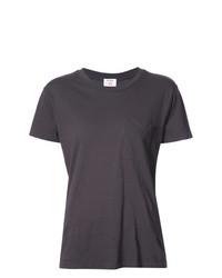 Camiseta con cuello circular en gris oscuro de RE/DONE