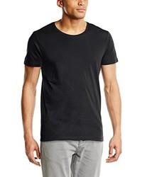 Camiseta con cuello circular en gris oscuro de Selected Homme