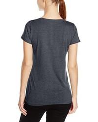 Camiseta con cuello circular en gris oscuro de Stedman Apparel