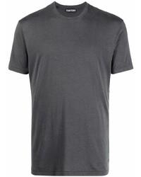 Camiseta con cuello circular en gris oscuro de Tom Ford