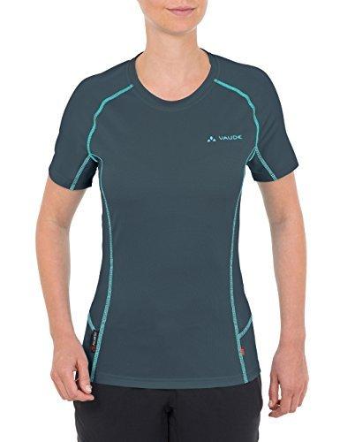 Camiseta con cuello circular en gris oscuro de Vaude