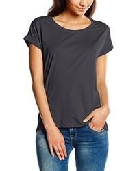 Camiseta con cuello circular en gris oscuro de Vila