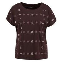 Camiseta con cuello circular en marrón oscuro de Max Mara