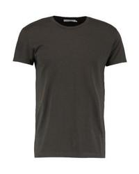Camiseta con cuello circular en marrón oscuro de Samsøe & Samsøe