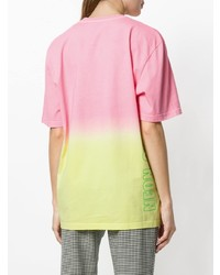 Camiseta con cuello circular en multicolor de MSGM