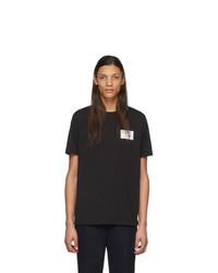Camiseta con cuello circular en negro y blanco de A.P.C.