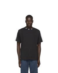 Camiseta con cuello circular en negro y blanco de adidas Originals