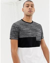 Camiseta con cuello circular en negro y blanco de ASOS DESIGN