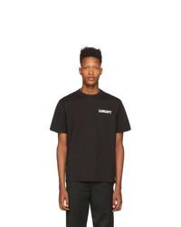 Camiseta con cuello circular en negro y blanco de CARHARTT WORK IN PROGRESS